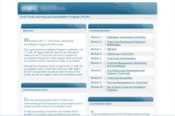 LMS Launching Page Screenshot
