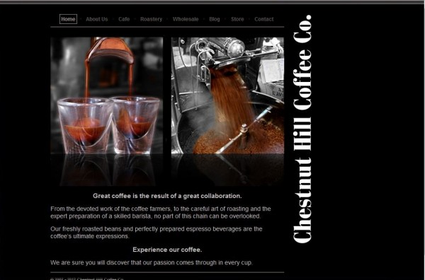 Chestnut Hill Coffee Co. Screenshot