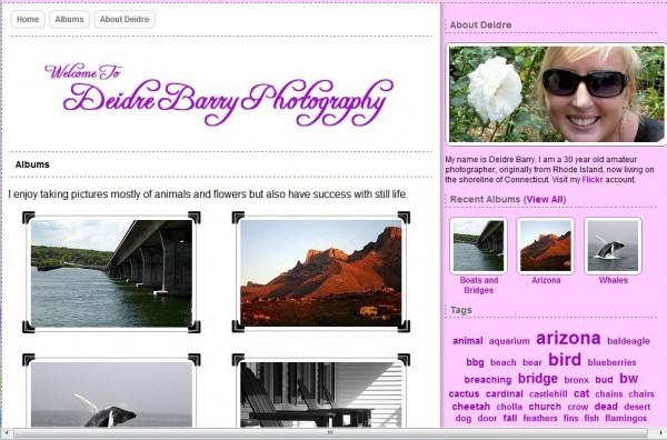 Photography Website Screenshot